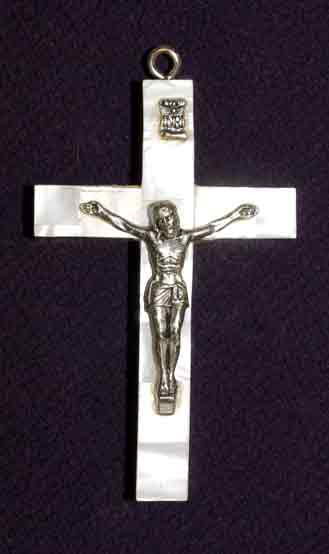 crucifix mother of pearl latin sm