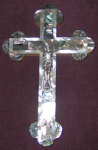 crucifix all mother of pearl abalone med