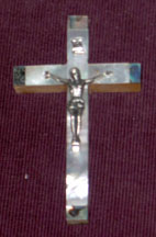 crucifix all mother of pearl and abalone latin med