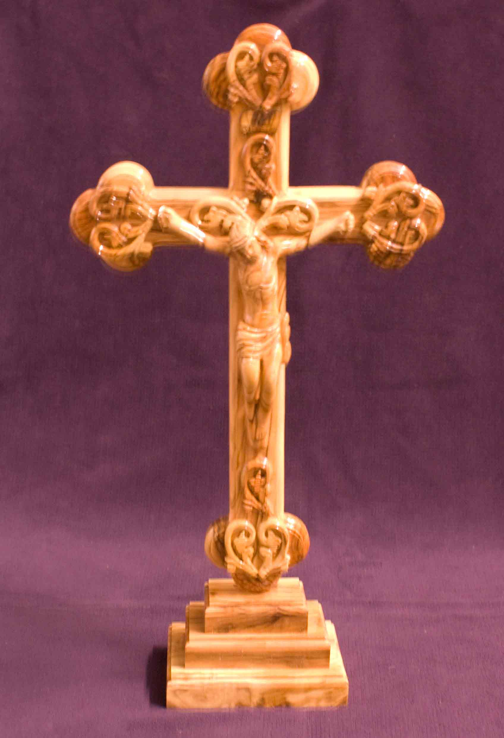 crucifix standing wood large